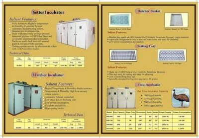 Manufacturer & Exporter of Poultry Incubators & Hatcher