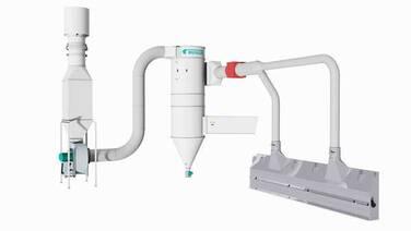 Sistema de aspiración de polvo para tolvas de recepción - LCCB