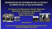 Aflatoxina M1 en leche: Alberto Gimeno
