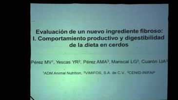 Evaluación de un nuevo ingrediente fibroso en cerdos