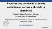 Estrés oxidativo en cerdos y el rol de la Vitamina E