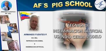 Inseminación artificial en cerdos: Armando Fuentes