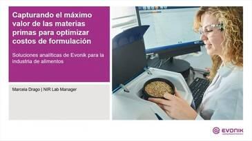 Capturando el máximo valor de las materias primas para optimizar costos de formulación