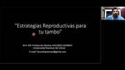 Estrategias reproductivas para tu tambo, MV Facundo Jeanney