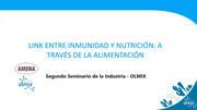 Link entre inmunidad y nutrición: a través de la alimentación, Dra. María García