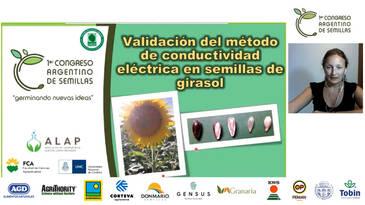 Girasol: Validar el método de conductividad eléctrica