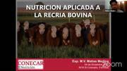 Nutrición aplicada a la recría bovina, MV Matias Medina