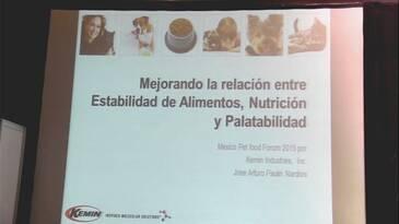 Estabilidad, nutrición y palatabilidad de los alimentos para mascotas. José Paulin (Kemin)