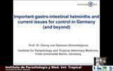 Parásitos gastrointestinales en bovinos y temas de actualidad para su control en Alemania
