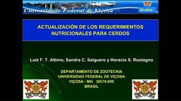 Exigencias nutricionales para cerdos: Prof. Horacio Rostagno