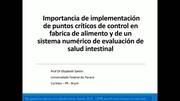 Puntos críticos en fábrica y sistema de evaluación de salud intestinal