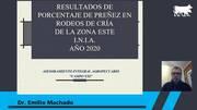 Uruguay - Diagnóstico de gestación 2020 Zona este