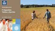 Fósforo Digestible en nutrición animal: Tablas y Aportes
