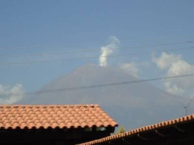 inmediaciones del Volcan Popocateptl en mexico