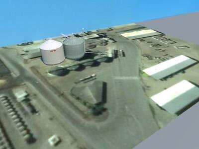 Proy. Ampliac. Renderizado Tunal Quibor, Silo ATS. Vista 3