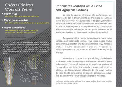 PRINCIPALES VENTAJAS DE LA CRIBA CON AGUJEROS CÓNICA