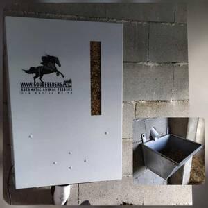 Comedero automático para caballos de gran capacidad
