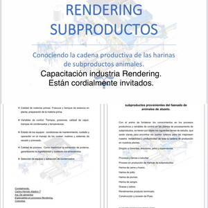 Capacitación industria Rendering