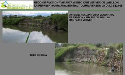 Control de erosión y estabilización de talud en margen izq. Rep. Santa Ana.