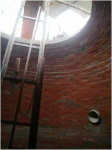 Interior de la cámara del biodigestor