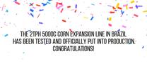 Línea de expansión de maíz 2TPH 5000c ha sido probada en Brasil