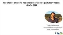 Uruguay - Encuesta pasturas y rodeos otoño 2020.