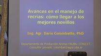 Jornada CAF en CONECAR - Avances en el manejo de Recrías: Como llegar a los mejores novillos - Disertante: Dario Colombatto
