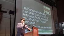 Produccion de metano y digestibilidad in vitro en forrajes tratados con enzimas exógenas. Juan M Cantet