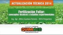 Fertilización Foliar: conceptos técnicos y estudios experimentales