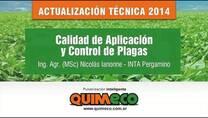 Control de Plagas, Calidad de Aplicación. Nicolás Ianonne (INTA)