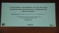 Características organolépticas de carne bajo un programa de suplementación mineral orgánica.