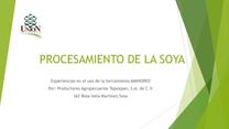 Procesamiento de la soya: Experiencia en el uso de AMINORED