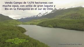 Vendo campo de 1.479 hectáreas a orilla de Lago sur de Chile