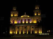 foto antigua catedral de managua