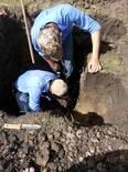 Extracción de monolito para observar diferentes los diferentes perfiles del suelo.