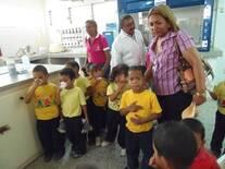 Celebración Dia mundial de la Leche con niños y niñas de Educación Inicial en la Unidad de Rehabilitación de Niños Desnutridos CITEC-UNEFM Coro-Falcón Venezuela.