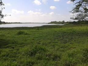 la guna de 74 hectareas en tiempo de seca contamos con agua todo el ano gracias a DIOS