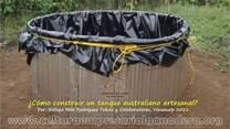 Construcción de un tanque australiano artesanal