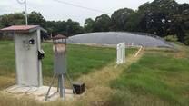 Quemador de Biogás con panel solar