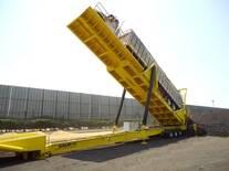 Plataforma móvil hidraulica para descargue de tracto camiones