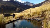 Reservorio de agua en centro experimental de camelidos sudamericanos Lahocc