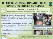 II Curso de Inseminación Artificial con semen fresco en ovinos