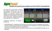 SISTEMA DE CONTROL PARA PESAJE MANUAL DE MICROINGREDIENTE