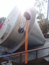 Tolva de Acero Inoxidable para Almacenamiento de Granos, Harinas, Grasas o un sin fin de usos en diferentes industrias.