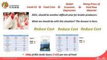 Innovador producto para reducir costo de alimento para pollos de engorde
