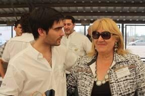 Con Cristina en el lanzamiento