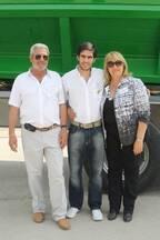 Junto a Cristina y Omar