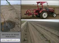 Diseño e instalacion de riego por goteo para plantaciones