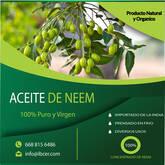 Aceite Puro de Neem 100% puro y virgen