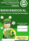 CURSO VIRTUAL: FUNDAMENTOS DEL MANEJO, CONSERVACIÓN Y PROCESAMIENTO DE GRANOS